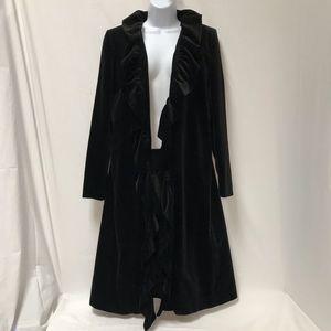 Marvin Richards Full Length Black Velvet Jacket 8
